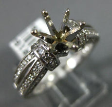 ESTATE WIDE .54CT DIAMOND 14KT WHITE GOLD 3D 6 PRONG SEMI MOUNT ENGAGEMENT RING