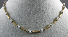 ESTATE LONG AAA SOUTH SEA PEARL 14KT WHITE & YELLOW GOLD 3D BY THE YARD NECKLACE