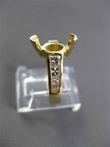 ESTATE .90CT DIAMOND 14KT YELLOW GOLD MARQUISE SEMI MOUNT ENGAGEMENT RING #21107