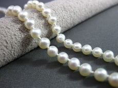 ESTATE 14K WHITE GOLD AAA WHITE SOUTH SEA PEARL SINGLE STRAND NECKLACE #22796