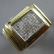 ESTATE LARGE .75CT PRINCESS DIAMOND 14KT YELLOW GOLD SQUARE INVISIBLE MENS RING
