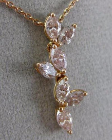 ESTATE 1.65CT WHITE & PINK DIAMOND 18KT ROSE GOLD HANDCRAFTED BUTTERFLY NECKLACE