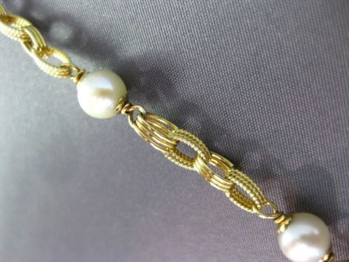 ESTATE 14KT TWO TONE GOLD AAA SOUTH SEA PEARL BY THE YARD TOGGLE BRACELET #20213