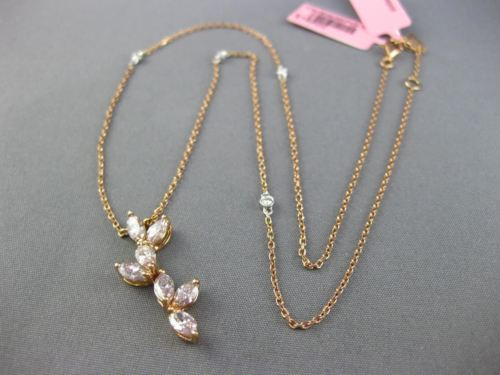 GIA 1.44CT FANCY PINK DIAMOND 18KT WHITE & ROSE GOLD FLOWER BY THE YARD NECKLACE