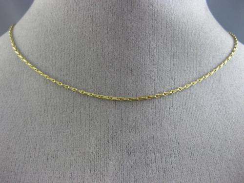 ESTATE 14KT YELLOW GOLD 3D HANDCRAFTED ITALIAN DIAMOND CUT LINK CHAIN # 26201