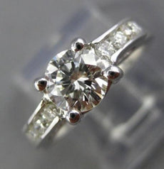 ESTATE 1.04CT DIAMOND 14K WHITE GOLD CLASSIC 3D FOUR PRONG ENGAGEMENT RING 25942