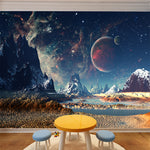 Outer Space Solar System Mural Wall Art Sticker