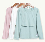 3-in-1 Korean Style Long-Sleeve Maternity Blouse