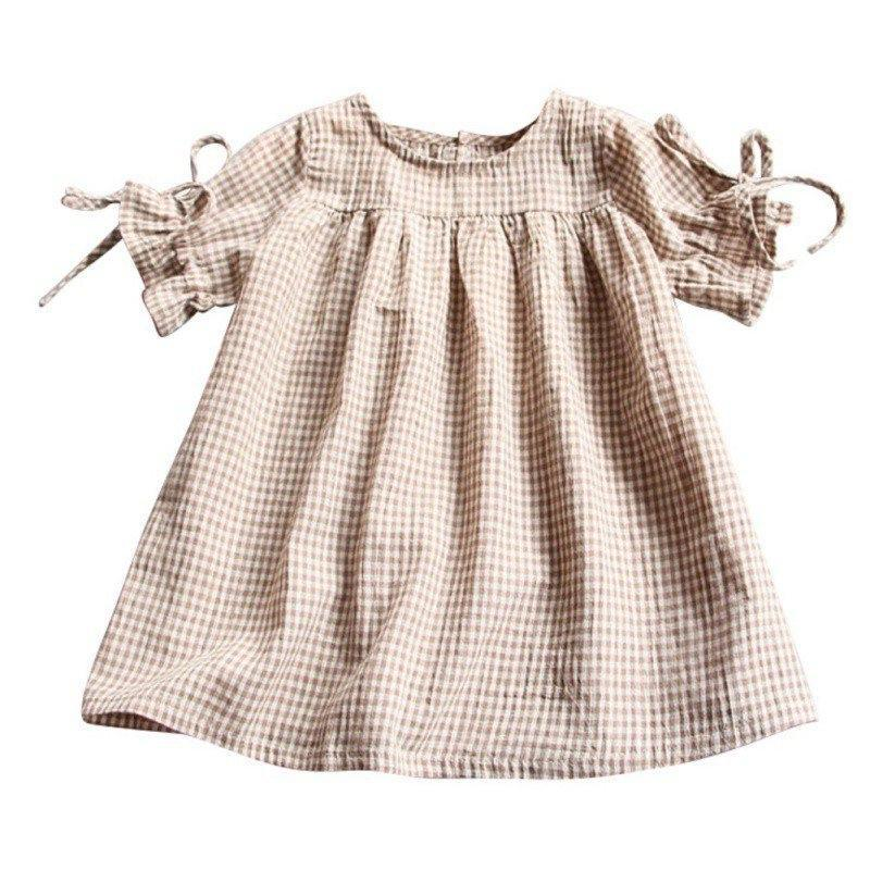 Linen Top For Toddler and Kids Plaid