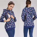 3-in-1 Calico Print Hooded Nursing Sweatshirt