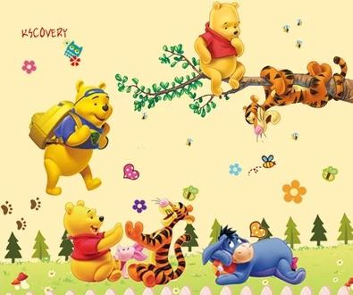 Cartoon Themed Wall Art Decal Stickers for Child's Room