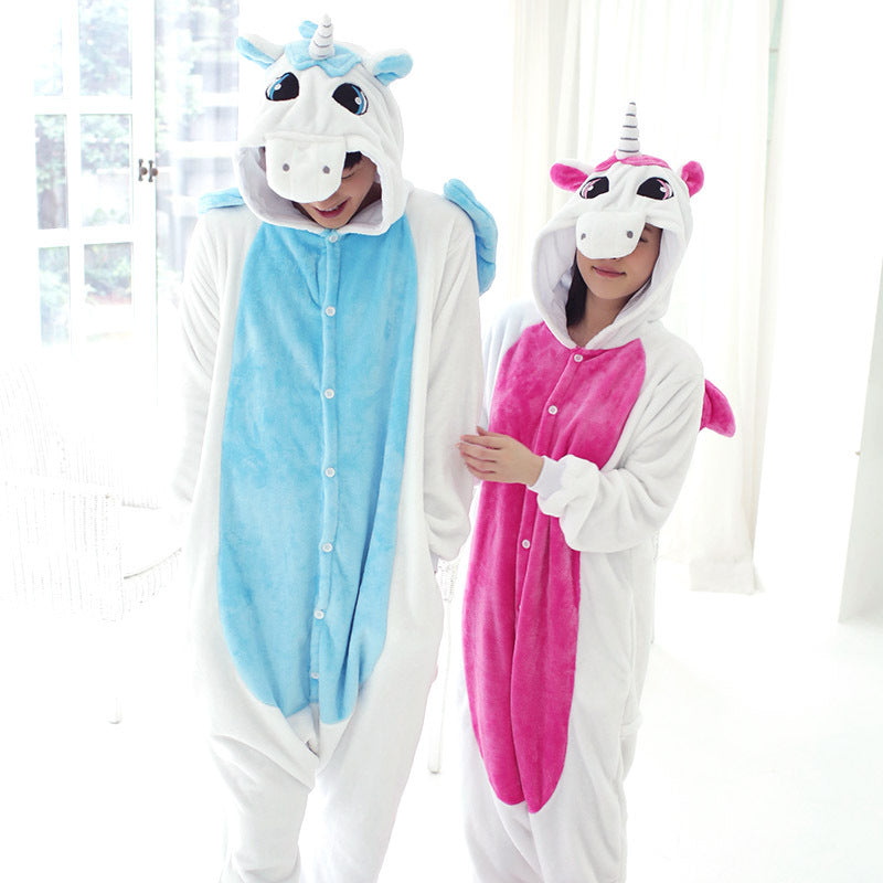 Unisex Unicorn Theme Autumn/Winter Pajama Kigurumi Sleepwear