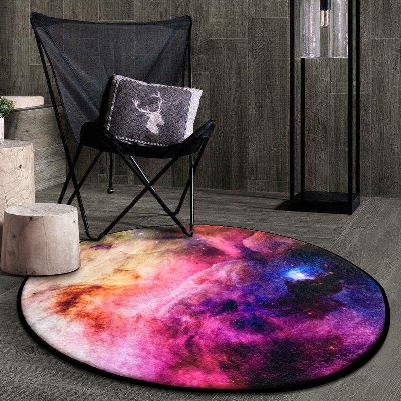 Moon Earth Sun and Galaxy Themed Soft Carpet Rag and Playmat