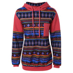 Unisex BTS Native Indian Pattern Autumn/Winter Hooded Sweatshirt