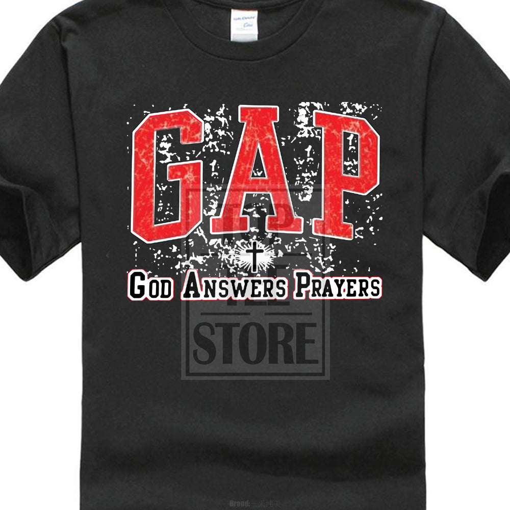 Unisex GAP God Answers Prayer Christian Shirt