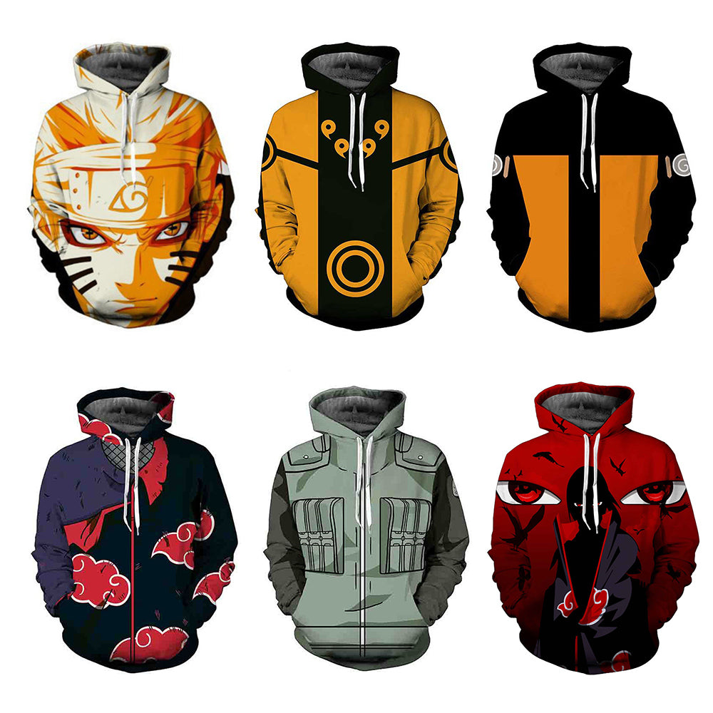 Naruto Unisex Hooded High Definition Print Sweatshirts Ultimate Collection