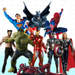 Superheroes Themed Wall Art Decal Stickers
