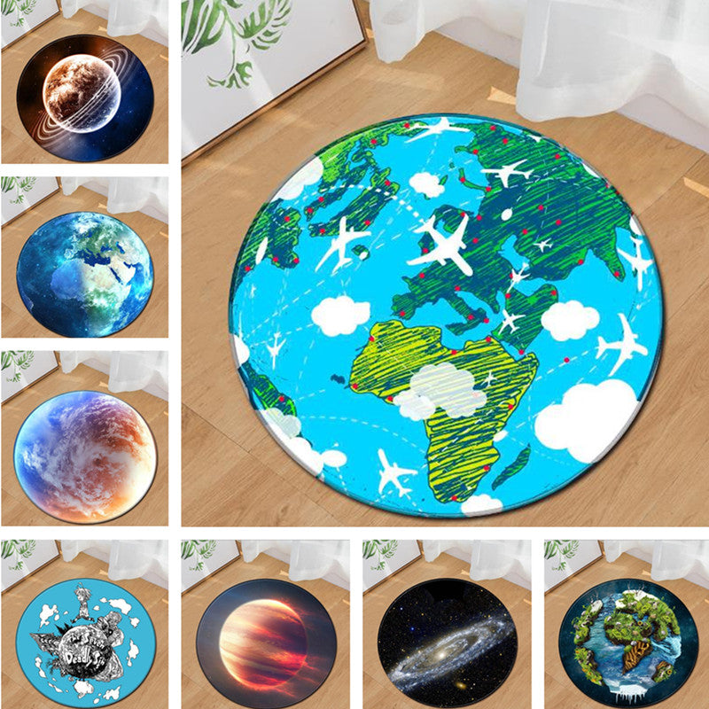 Galaxy Themed Educational Soft Playmat Carpets for Childs Room