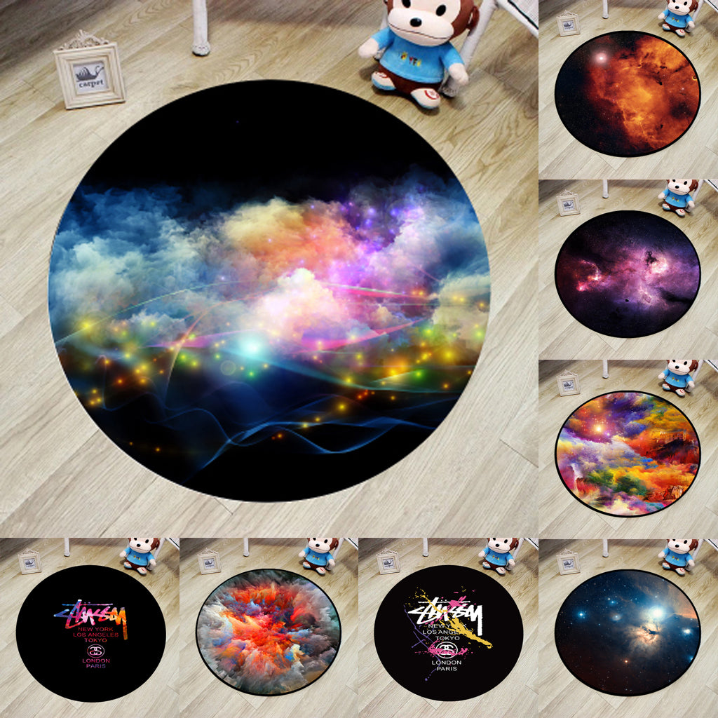 Cosmic Theme Kids Rug and Playmat