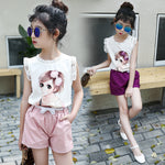 Japanese-Inspired Girls Laced Summer Outfit