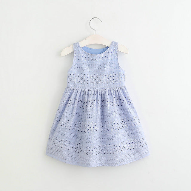 Embroidered Detail Elegant Dress Toddler to Kids