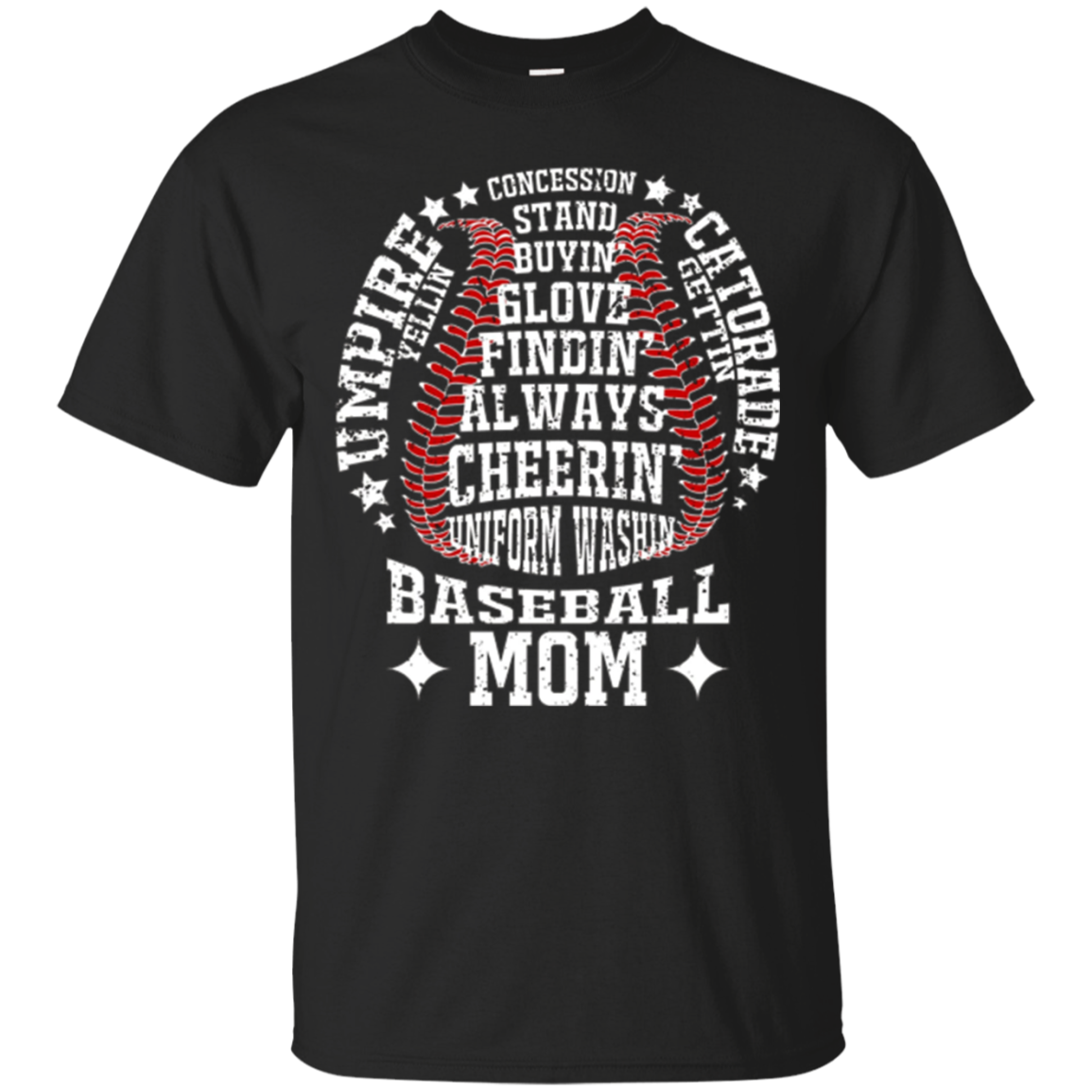 Baseball Mom T Shirts Funny Baseball Shirt For Mother