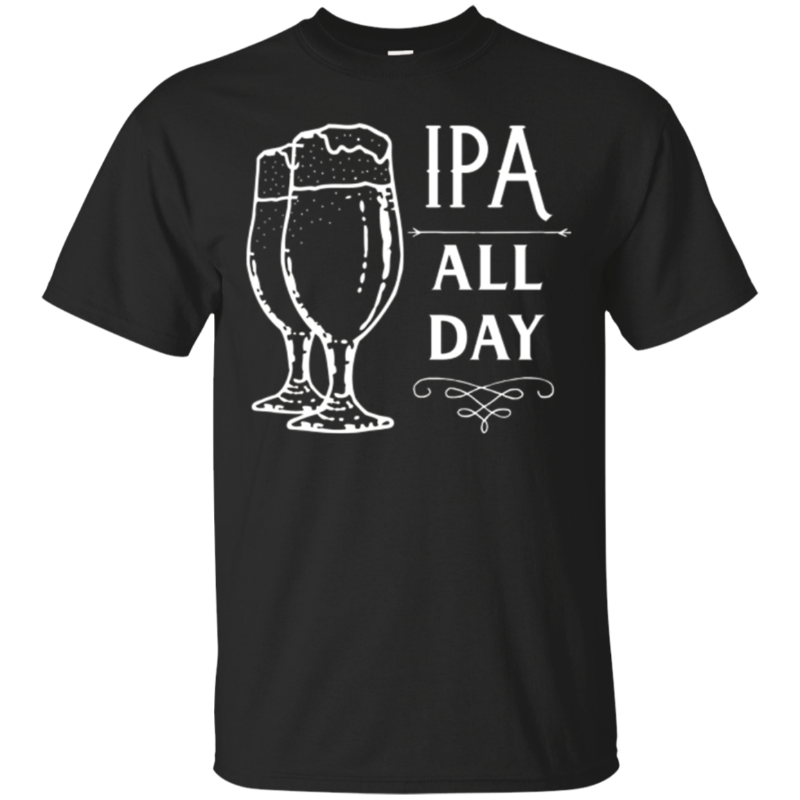 Awesome IPA ALL DAY Beer T-shirt Classic Fit