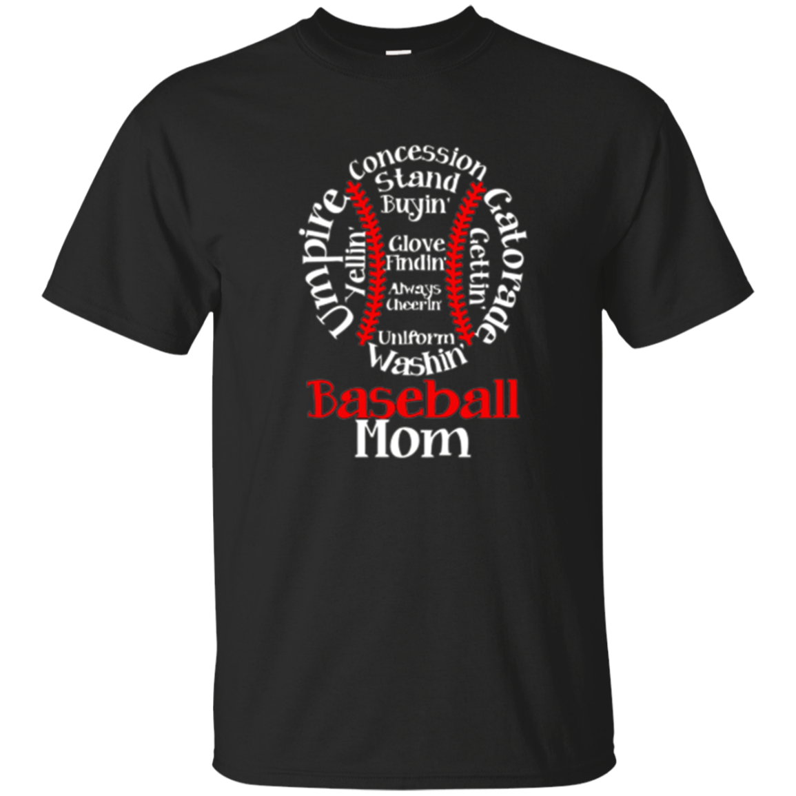 Baseball Mom T Shirt Amazing Mother's Day Gift