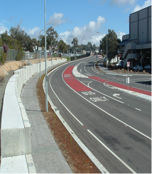 Belconnen Bus Cycle Lane - Lanyon Drive Interchange