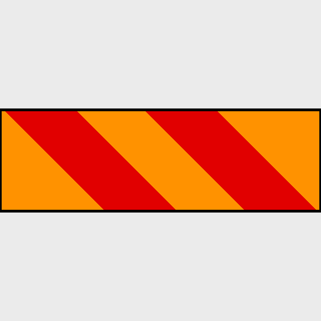 615B -R Heavy Vehicle Marking Sign - Aluminium