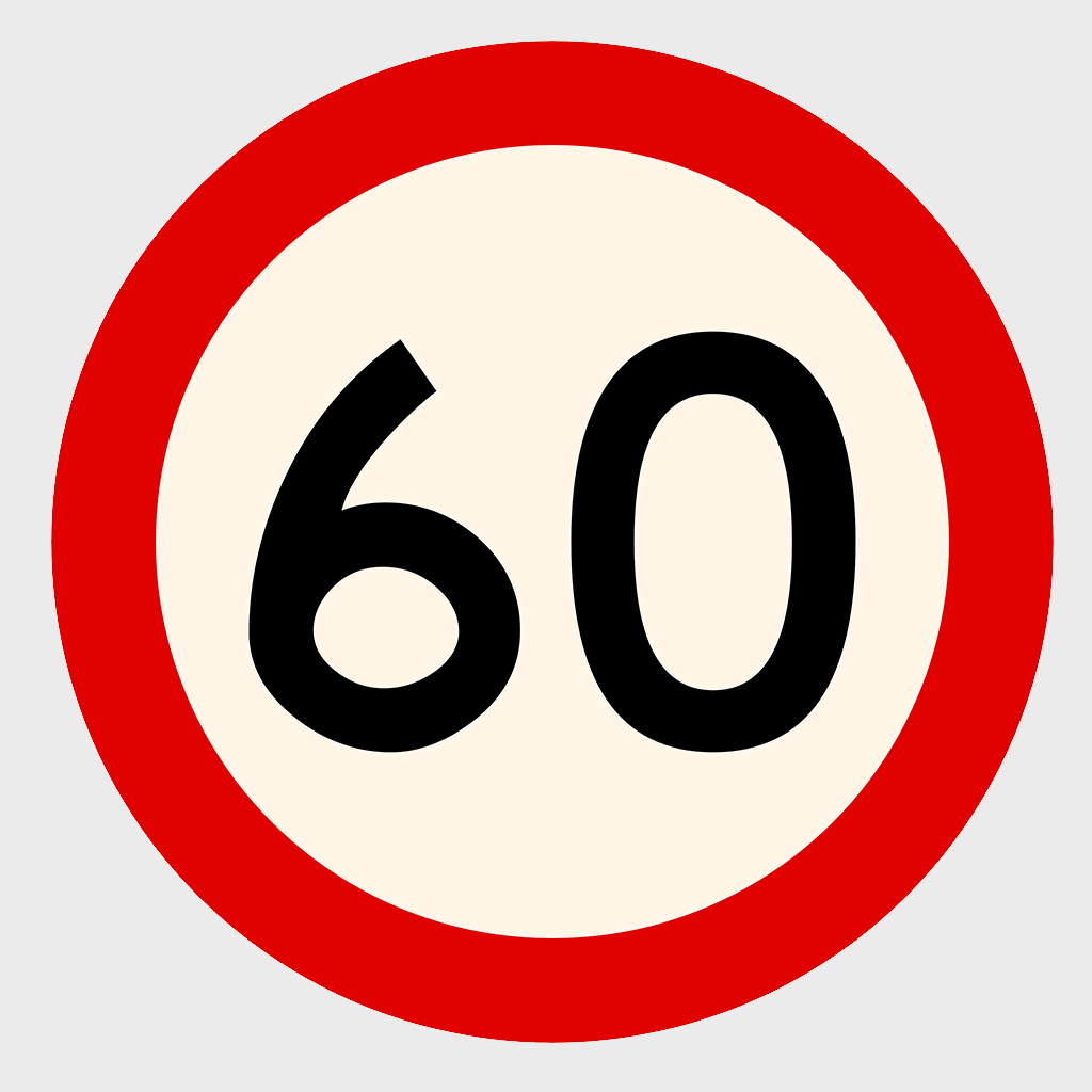 CT284-25 Speed Limit Sign - Aluminium