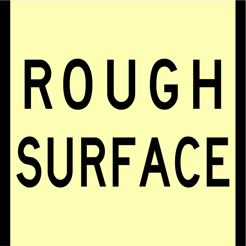 CT284-T3-7 Rough Surface Sign - Boxed Edge