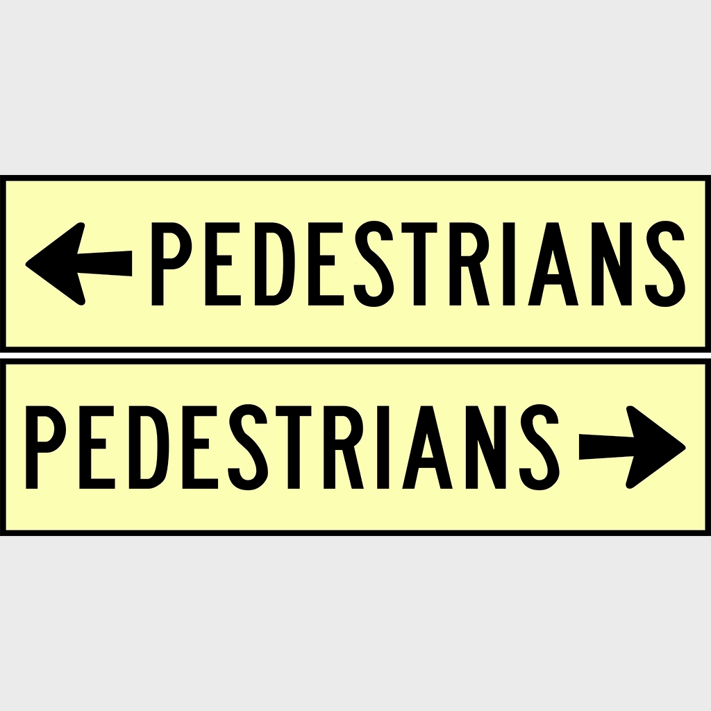 CT284-T8-2LR Pedestrians Sign - Corflute