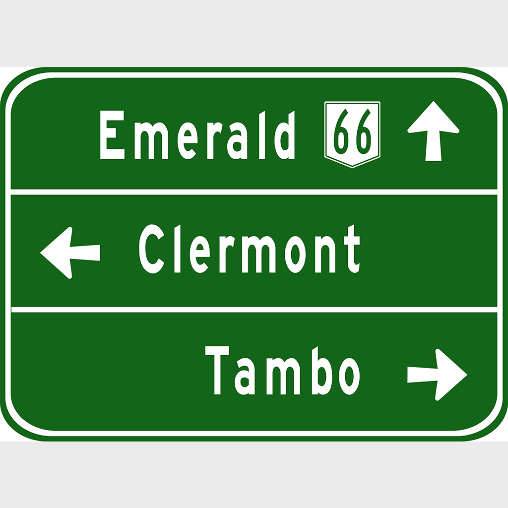 G1-2 Advance Direction Sign - Aluminium