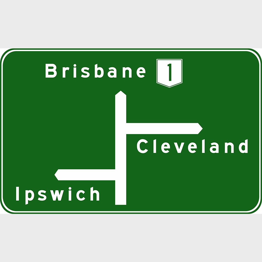 G1-3 Advance Direction Sign - Aluminium