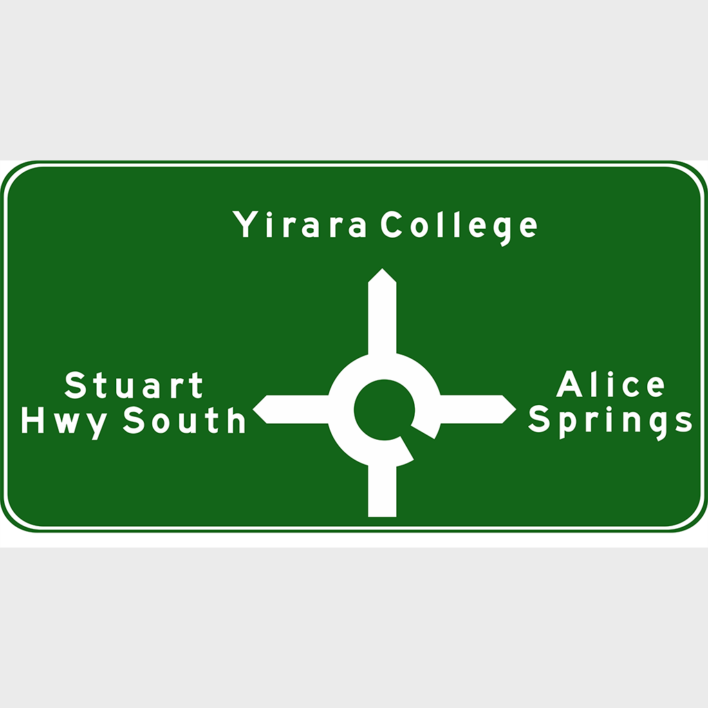 G1-5 Advance Direction Sign - Aluminium