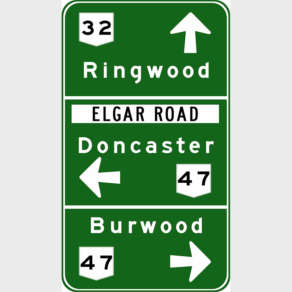 G1-6 Advance Direction Sign - Aluminium