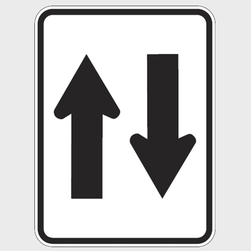 R2-11 Two Way Sign - Aluminium