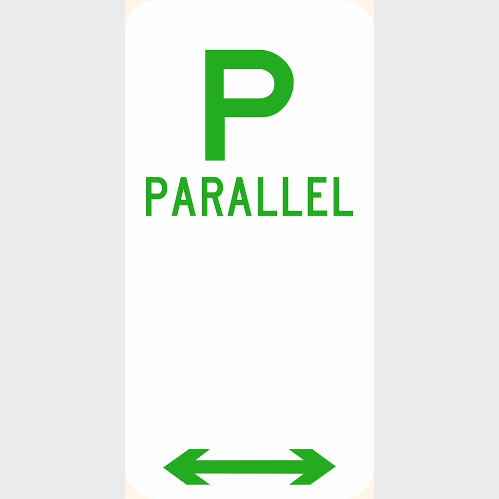 R5-10 Parallel Parking Sign - Aluminium