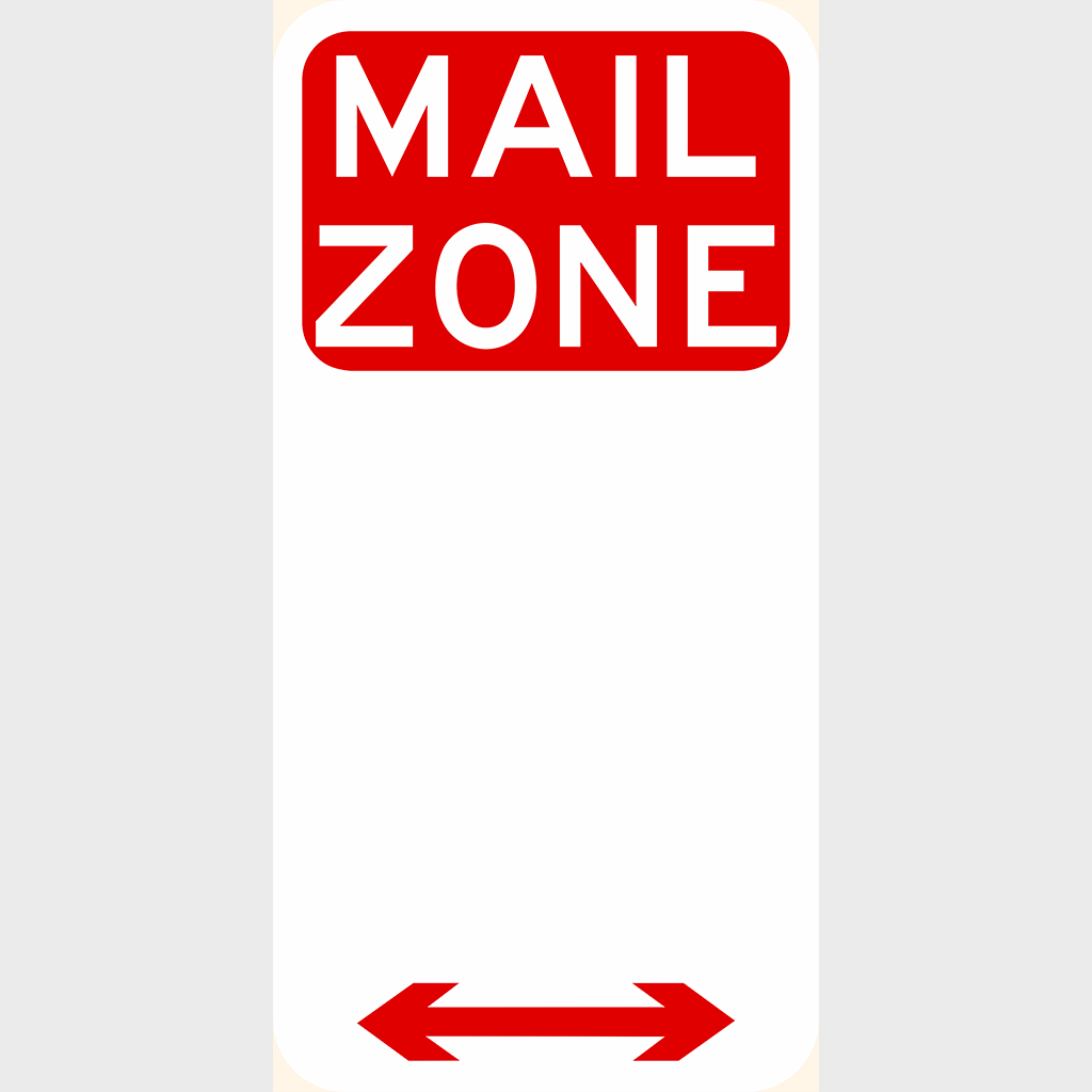 R5-26 Mail Zone Sign - Aluminium