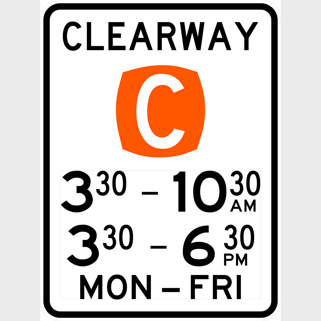 R5-50 Clearway Sign - Aluminium