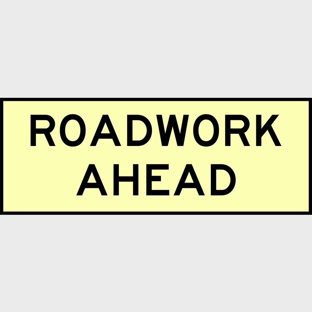 T1-1 Roadwork Ahead Sign - Boxed Edge