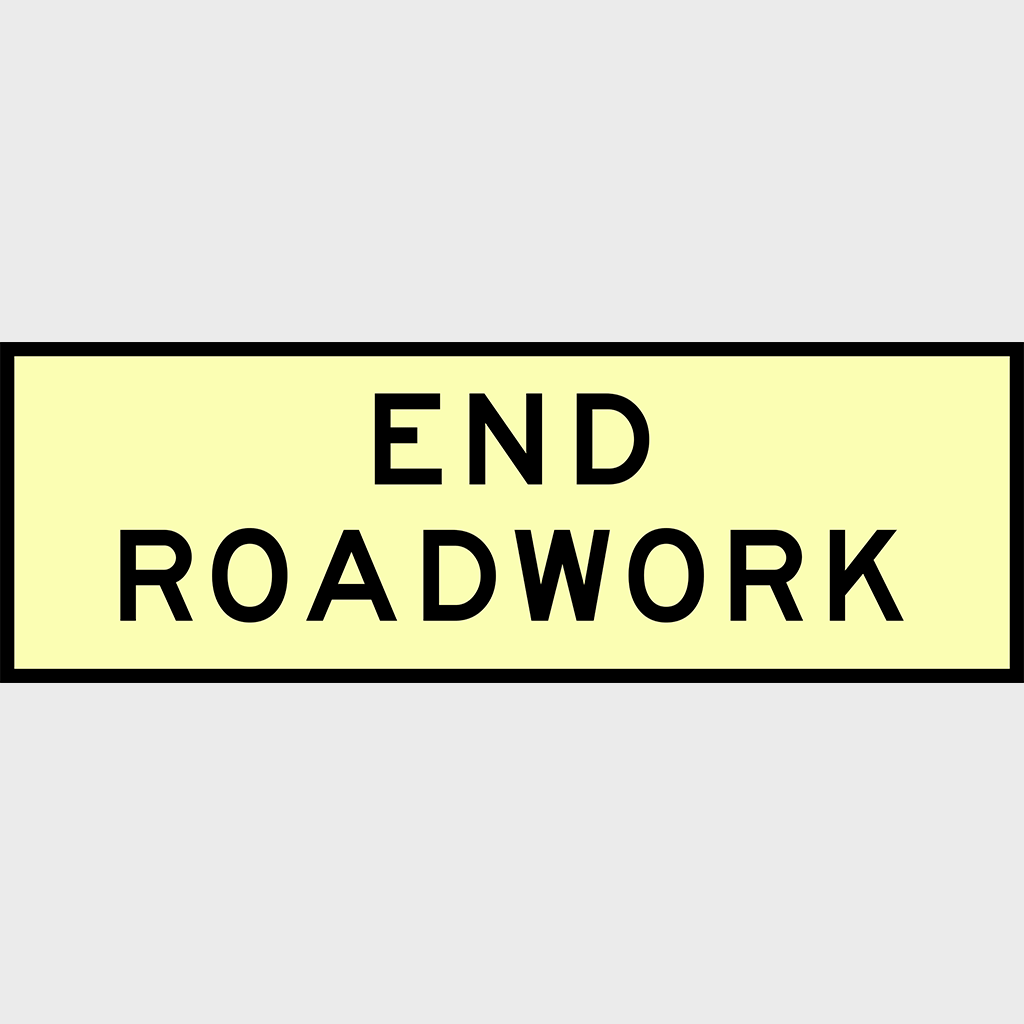 T2-16 End Roadwork Sign - Boxed Edge