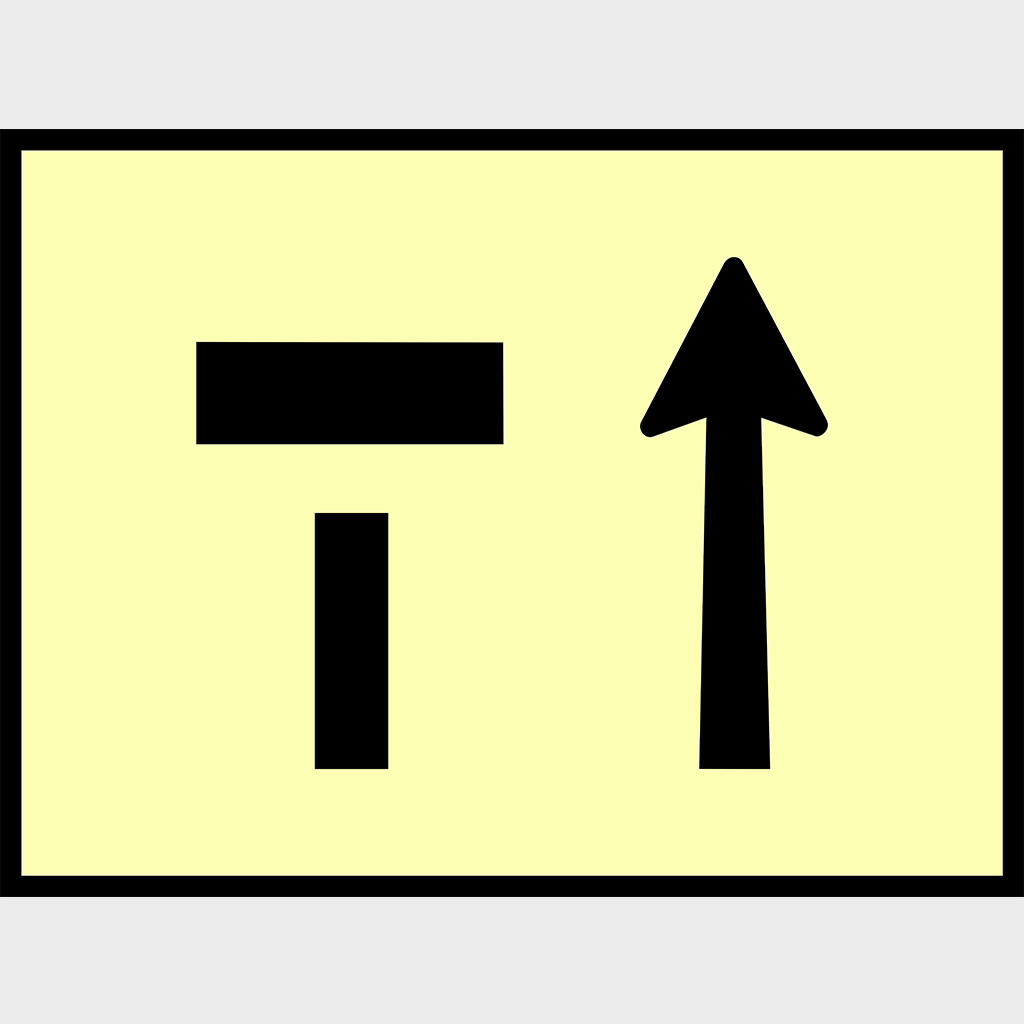 T2-6-1 Left Lane Closed Sign - Aluminium
