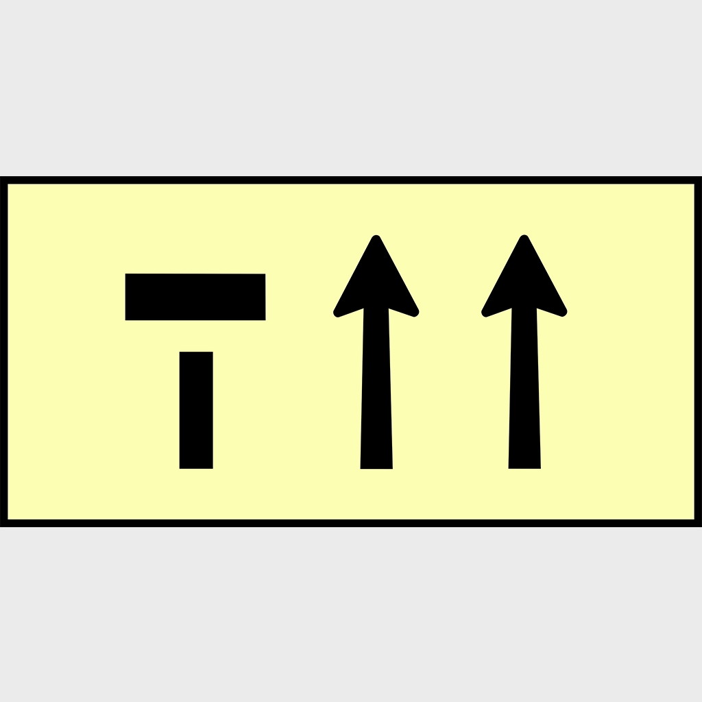 T2-6-2 Left Lane Closed Sign - Aluminium