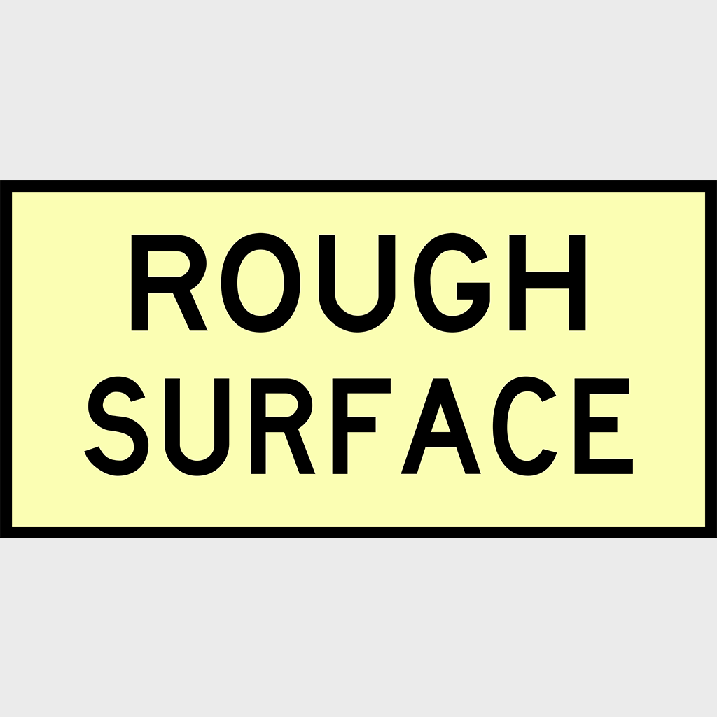T3-7 Rough Surface Sign - Boxed Edge