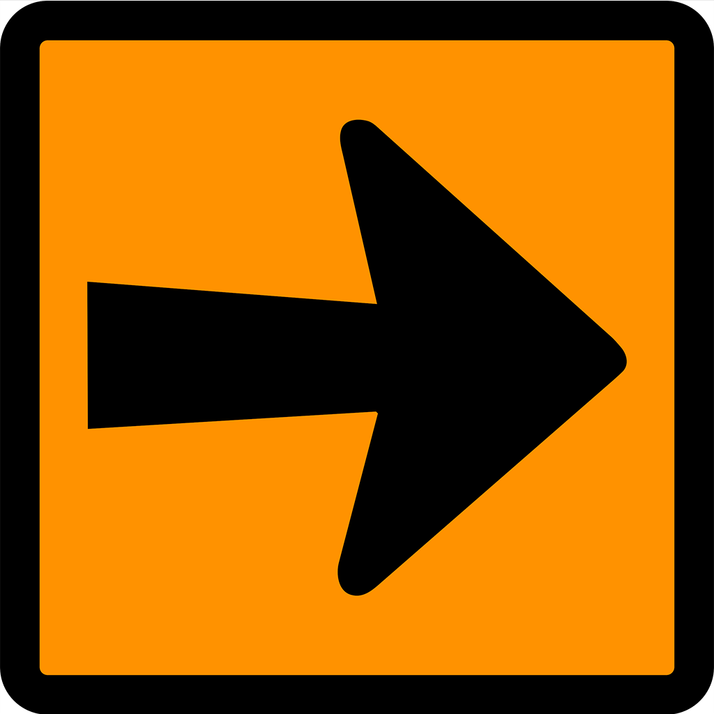T5-6 Detour Arrow Sign - Aluminium
