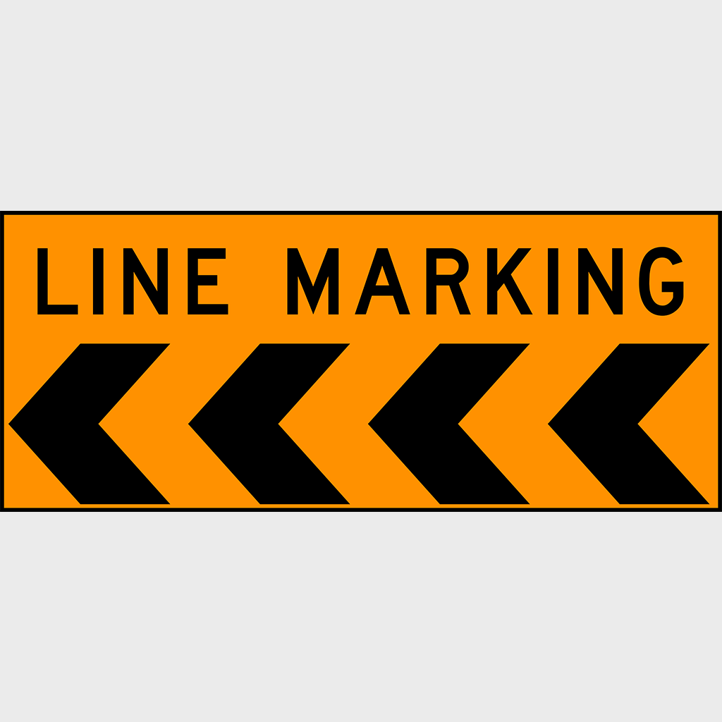 T6-1 Line Marking Sign - Corflute