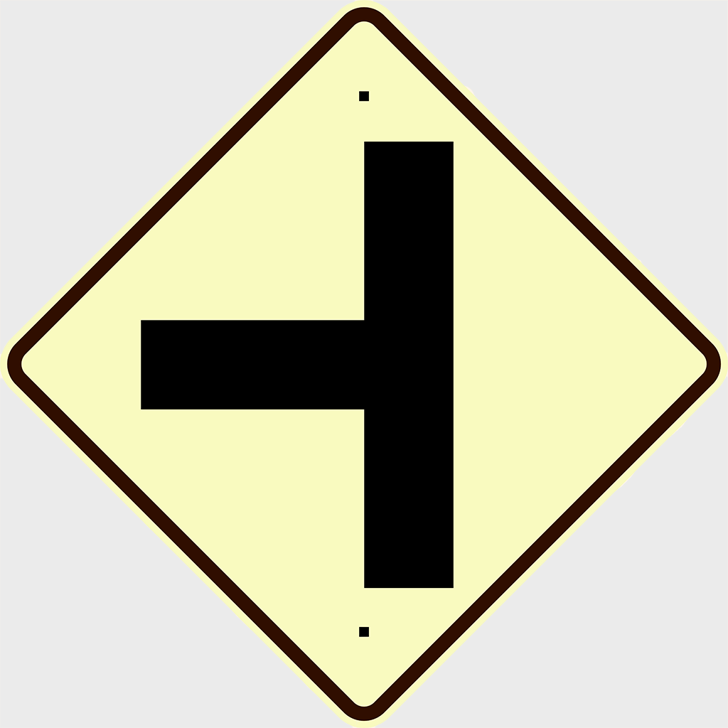W2-4 Side Road Junction Sign - Aluminium