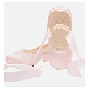 Satin Ballet Shoes with Ribbon
